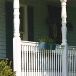 white Madison vinyl railing on porch