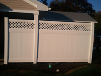privacy fence with lattice in lancaster pa